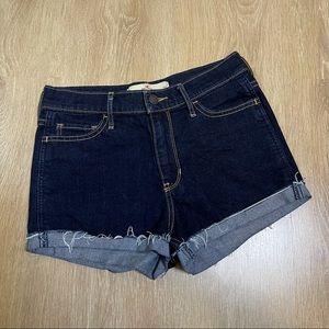 Hollister Dark Wash High-Rise Short-Shorts Sz 3/26